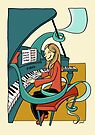 Playing the piano by Sanne Thijs
