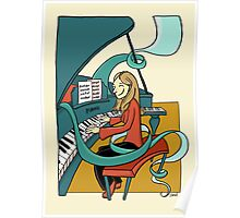 Playing the piano Poster