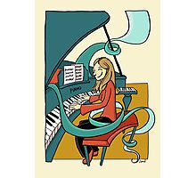 Playing the piano Photographic Print