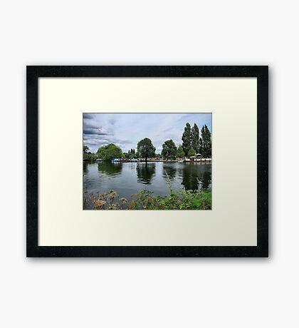 RIVERSIDE REFLECTIONS. Framed Print