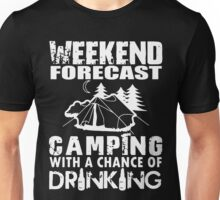 CAMPING WITH DRINKING Unisex T-Shirt