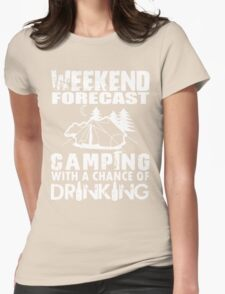 CAMPING WITH DRINKING Womens Fitted T-Shirt