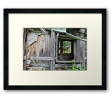 Old farm. Someone used to live here. Elverum, Norway. Framed Print