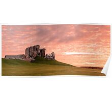 Duffus Castle Sunset Poster