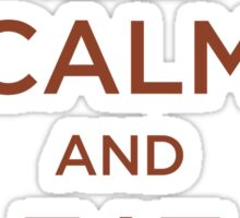 Keep Calm Eat Bacon Sticker