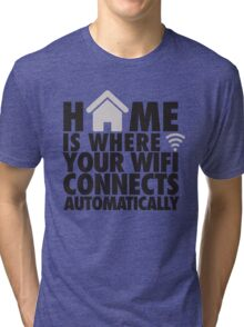 Home is where your WIFI connects automatically Tri-blend T-Shirt