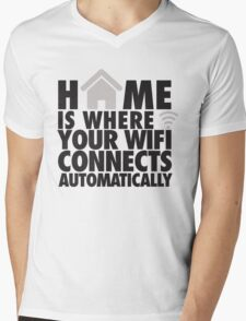 Home is where your WIFI connects automatically Mens V-Neck T-Shirt