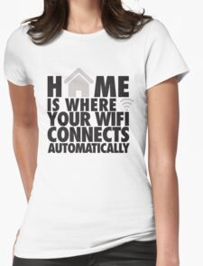 Home is where your WIFI connects automatically Womens Fitted T-Shirt