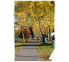 A walk on an autumn day Poster