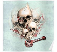 Faded Youth Smoke skulls. Poster