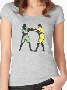 Boxing Sisters Women's Fitted Scoop T-Shirt