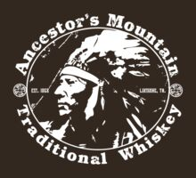 Vintage Traditional Whiskey Logo T-Shirt by TropicalToad