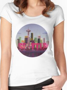 Seattle Women's Fitted Scoop T-Shirt