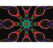 Tribal Flowers Photographic Print
