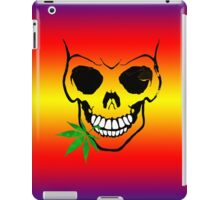 Skull with Weed -  Cool Skull with Pot - T Shirt Stickers iPad Case/Skin