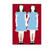 The Grady Girls - The Shining Art Print