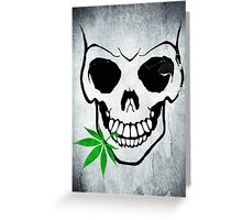 Skull with Weed -  Cool Skull with Pot - T Shirt Stickers Greeting Card
