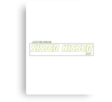 Sister Kisser Canvas Print