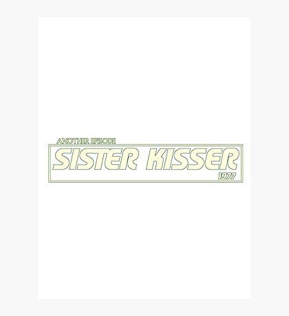 Sister Kisser Photographic Print