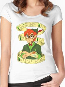 Growing Up is Too Mainstream Women's Fitted Scoop T-Shirt