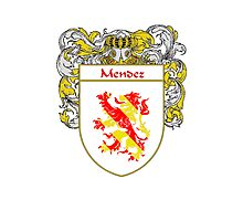 Mendez Coat of Arms/Family Crest Photographic Print