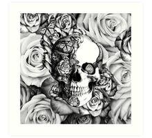 Ladybug Rose skull.  Art Print