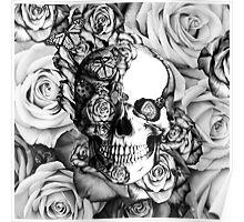 Ladybug Rose skull.  Poster