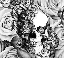 Ladybug Rose skull.  by KristyPatterson