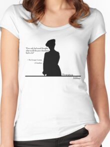 Moral Thoughts Women's Fitted Scoop T-Shirt