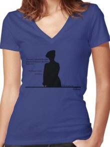 Moral Thoughts Women's Fitted V-Neck T-Shirt