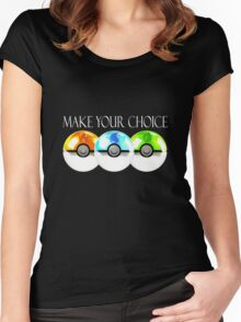 Pokemon - Make Your Choice Women's Fitted Scoop T-Shirt