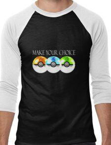 Pokemon - Make Your Choice Men's Baseball ¾ T-Shirt