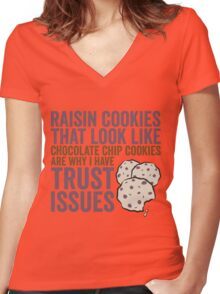 Raisin Cookies Women's Fitted V-Neck T-Shirt