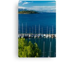 Greek harbor, Canvas Print