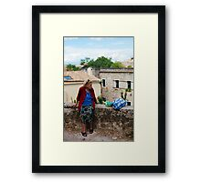 Old woman, Framed Print