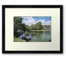 Lazy Day on the Rainbow River Framed Print