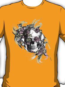 Grunge butterfly smoke skull T-Shirt