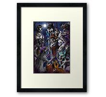 Furries - Pack vs Pack Framed Print