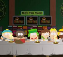 South Park's last supper Sticker