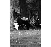 Casual Reading Photographic Print