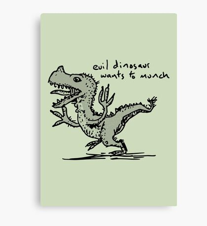 Evil Dinosaur Wants to Munch Canvas Print