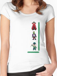 Halloween monsters Women's Fitted Scoop T-Shirt