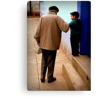 Grandfather in Spanish is Abuelo Canvas Print