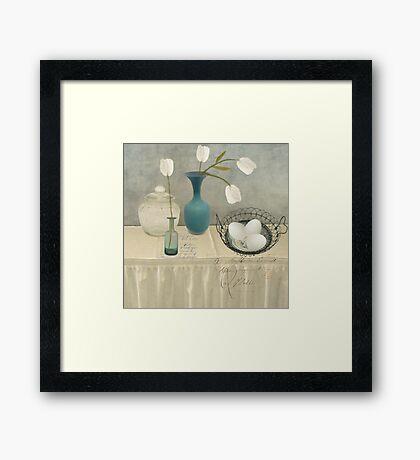 The Blue Vase Framed Print