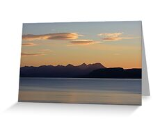 Cuillin Sunset 4 Greeting Card