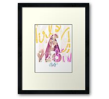 Girls' Generation (SNSD) Taeyeon 'Party' Framed Print