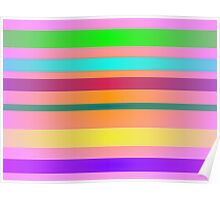 Candies Stripes Poster