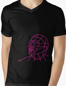 Facial Geometry Mens V-Neck T-Shirt