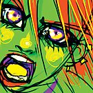 Green Scream by Razvan-Sedekiah