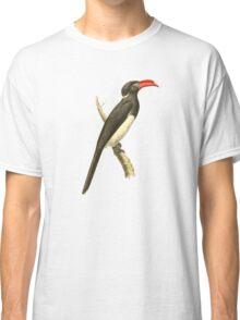 Coronated Hornbill Bird Illustration by William Swainson Classic T-Shirt